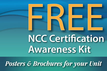 Free NCC Certification Awareness Kit - Posters & Brochures for your unit